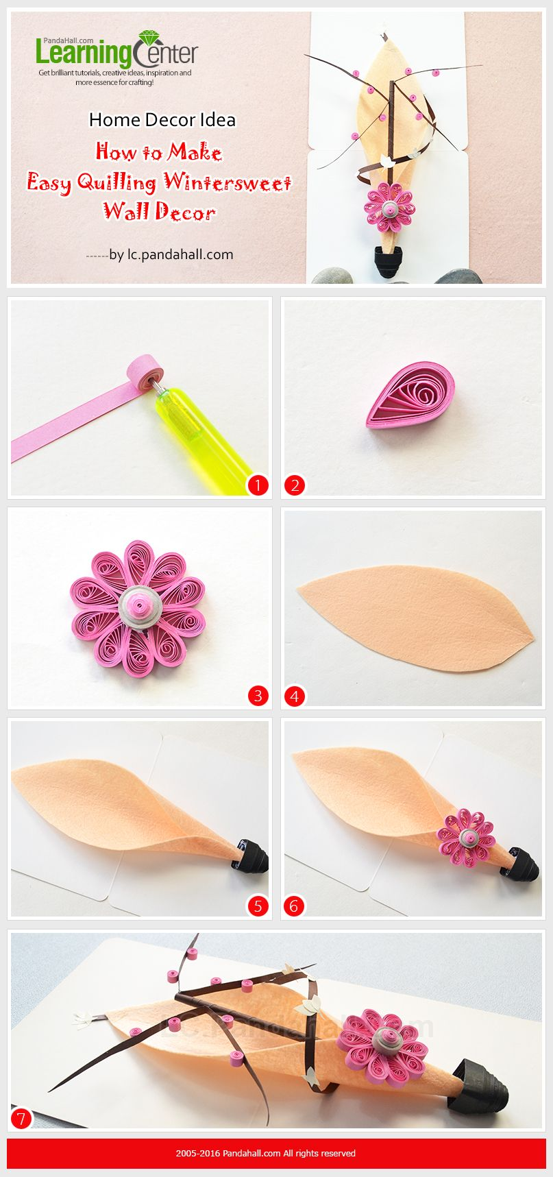Home Decor Idea--How to Make Easy Quilling Wintersweet Wall Decor ...