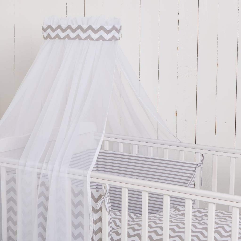 Bett Set Svea Weiss 135x100 Cm Bett Betthimmel Und Baby Bettwasche