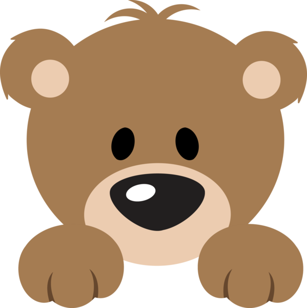 Bear cute. Peeker clip art bears