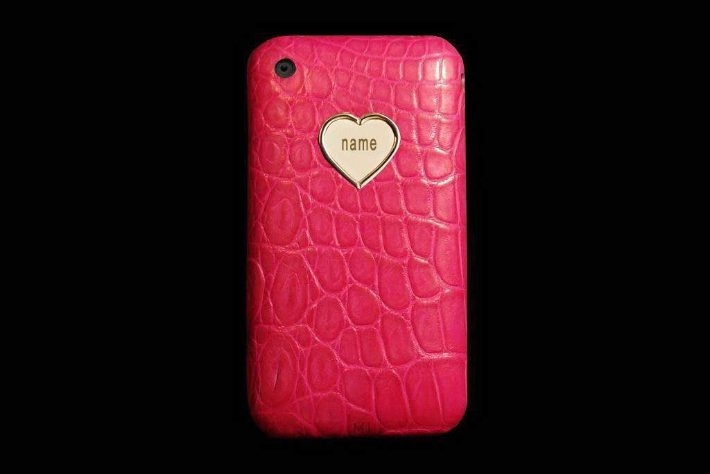 Apple iPhone Genuine Leather - Alligator Crocodile Pink with Gold 999 Apple.jpg 1,024×683 pixels