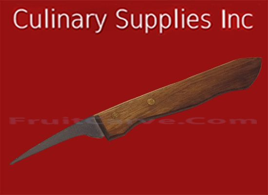 Birds Beak Fruit Carving Knife, Wooden handle, CS 003 : Culinary Supplies Knives Garnish Tools Fruit Carving Supplies. Check out the savings with like qualities! We are located at CulinarySupplies.Org, FruitCarve.Com