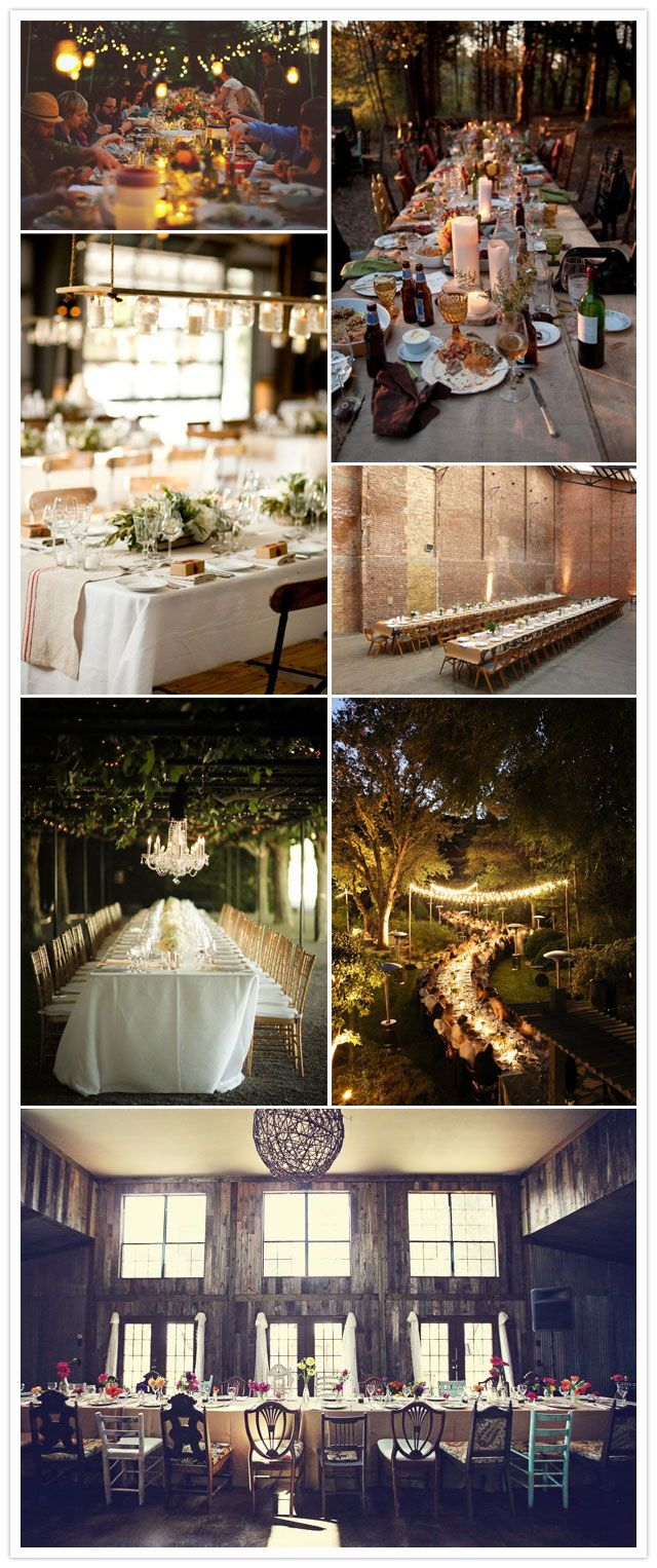 A Wedding Reception Trend We Love: Long, Banquet-Style Dinner Tables