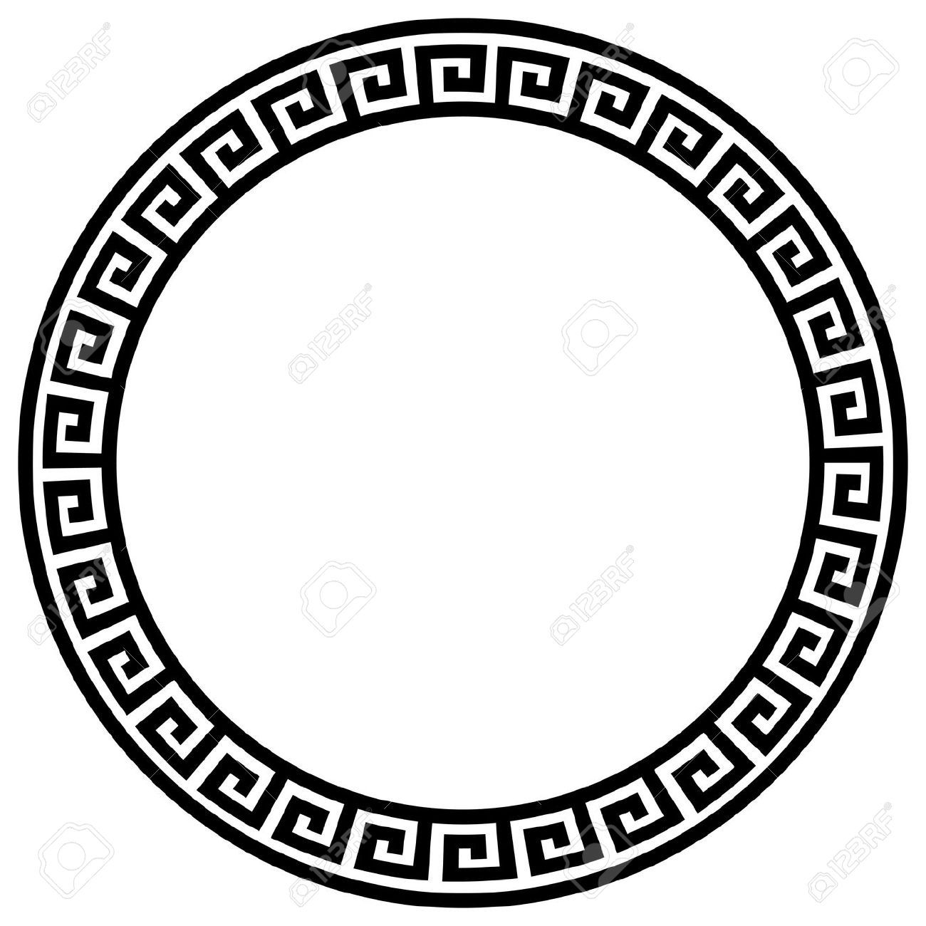 round frame with a meander