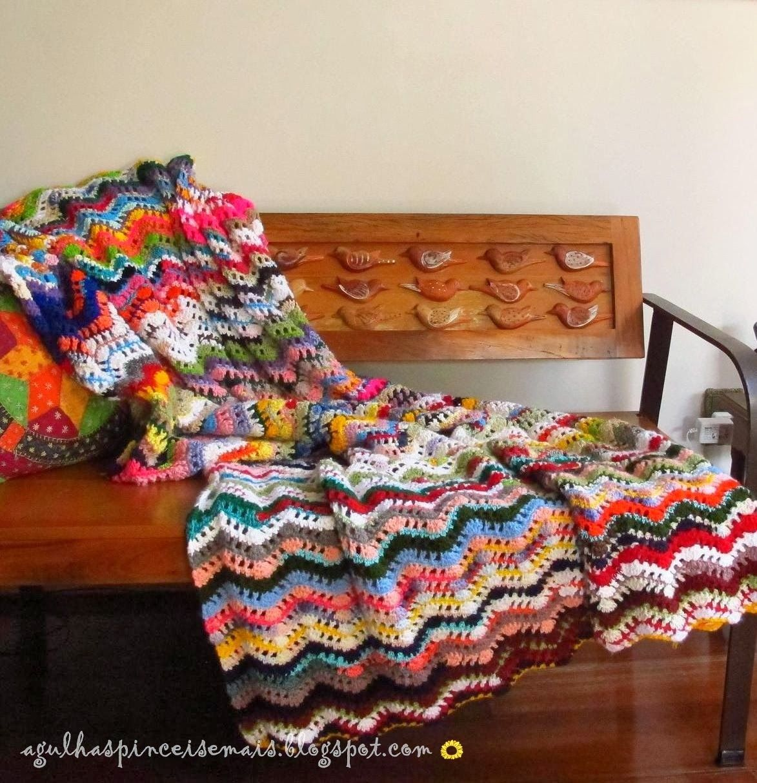 Needles and Brushes lovely afghan blanket #crochet afghan blanket
