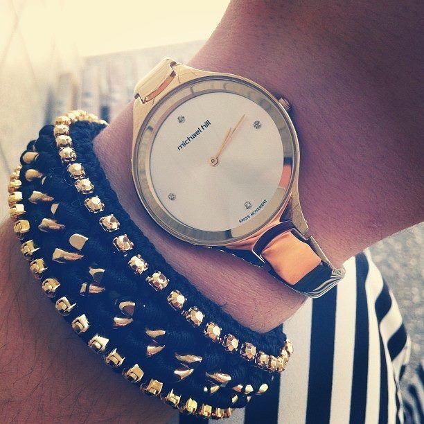 Gold Michael Hill watch