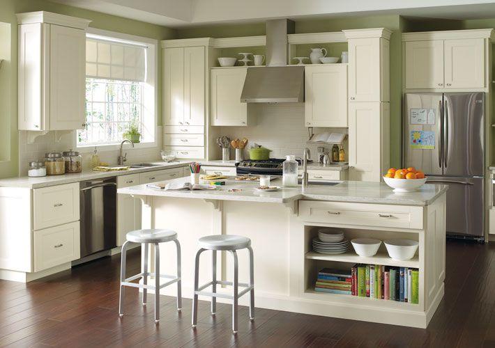 Martha Stewart Transitional Kitchen in White with Dunmere PureStyle ...