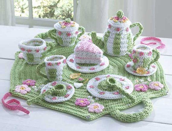 Crochet Pattern PDF Tea Set