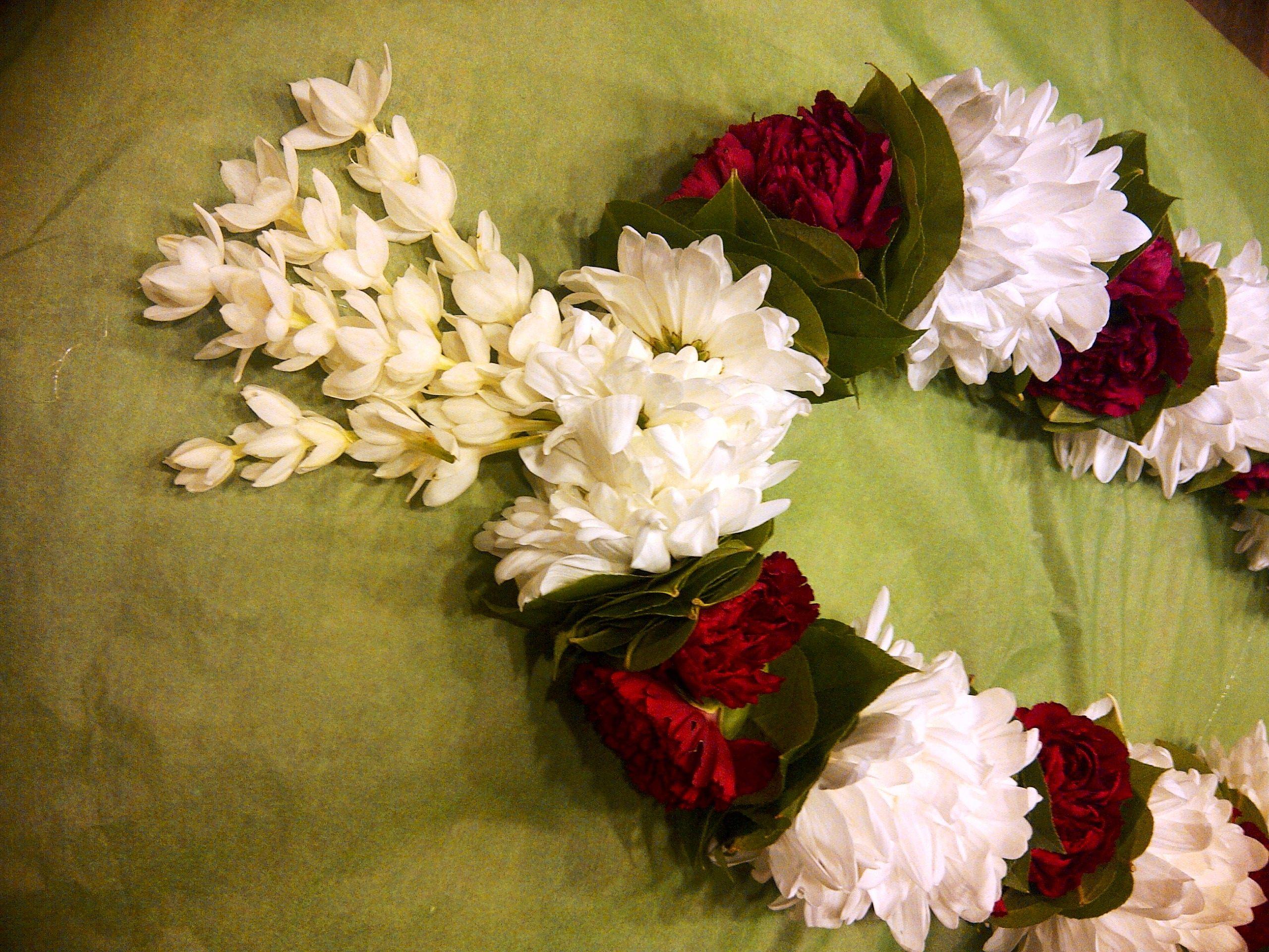 Cambodian Or Khmer Male Wedding Veil Flower Garland