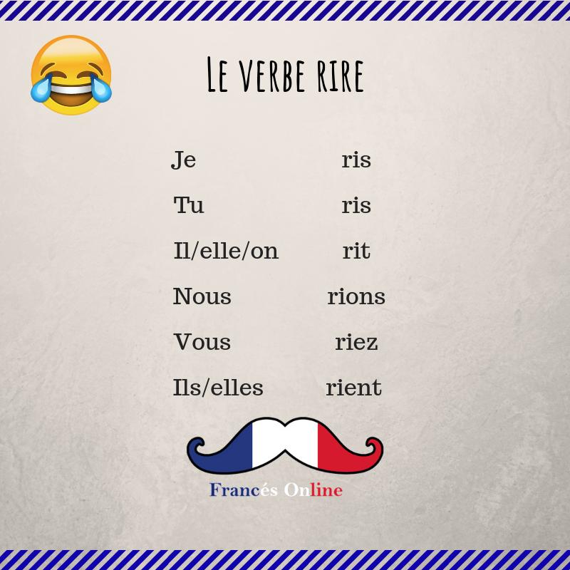 Le Verbe Rire Clases De Frances Aprender Frances Idioma Frances