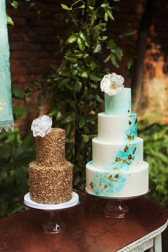 Aqua And Gold Wedding Ideas Photo By Tasha Rae Photography 100 Layer Cake