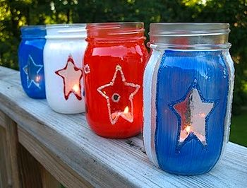 Cute idea to light up your Fourth celebration  #patriotsdaycraftsforkids