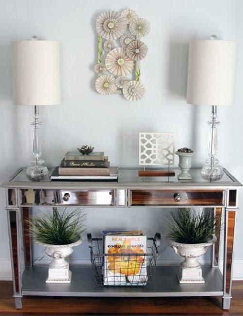 Awesome Mirrored Entry Way Table