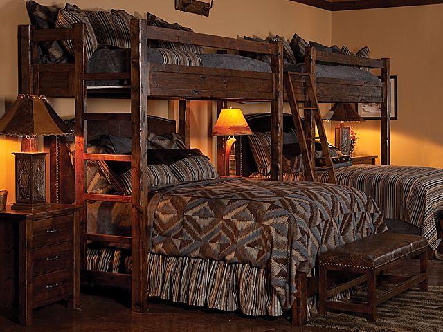 Post Canyon Trading High Rustler Rustic Bunk Bed