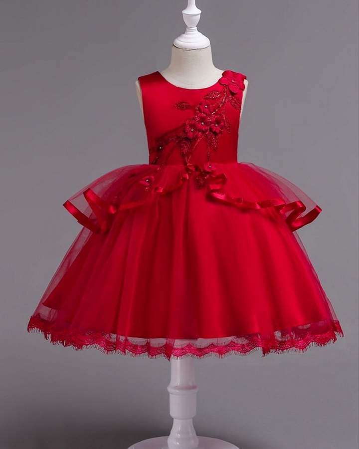 cab0811e2 Mia Belle Girls Elegant Special Occasion Holiday Dress Kids Party Wear  Dresses, Baby Girl Party