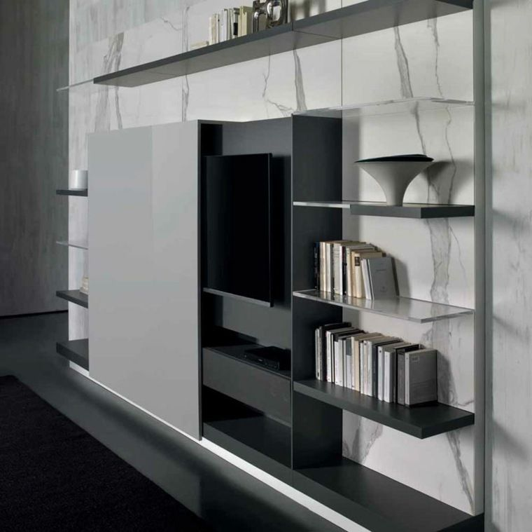 Ranger Et Cacher Wall Unit Contemporary Living Room Design Furniture Design