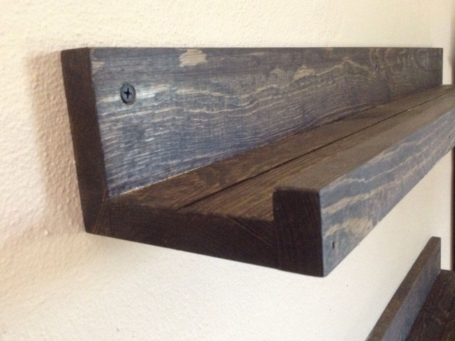 Ledge Shelf Shelves Picture Book E Rack Rustic Wood Gallery Wall Floating By Soilandsawdust On