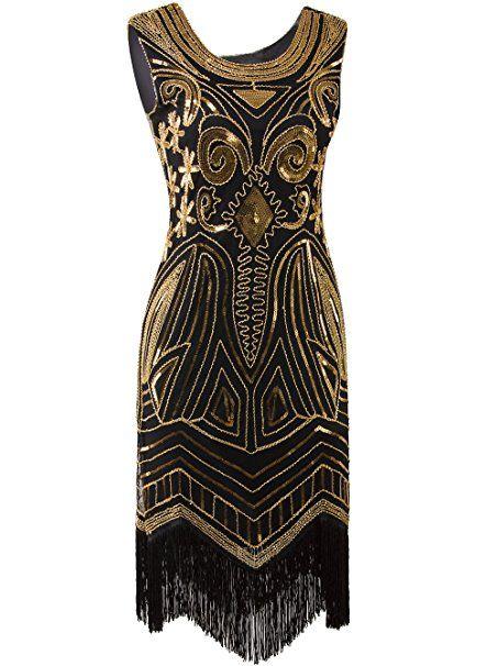 Vikoros Damen Cocktail Kleid, Paisley Gr. Etikette S/34-36, Glam ...