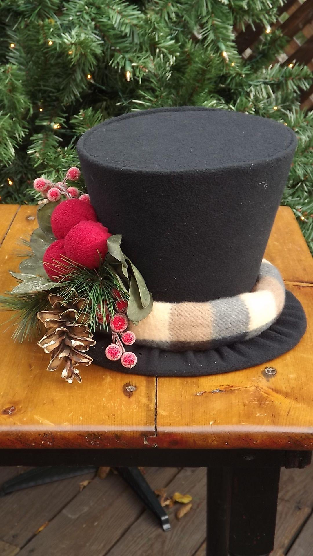 "Snowman hat centrepiece ""by Maureen"" Snowmen Hats"