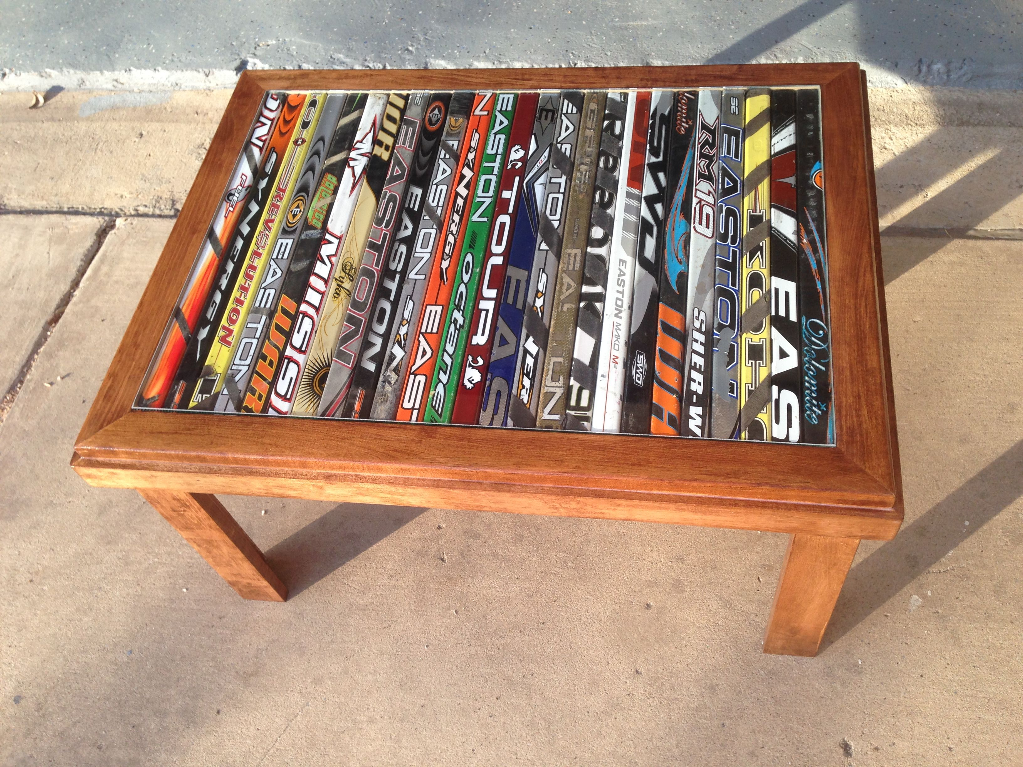 hockey stick table ruemoody Rue s Woodwork Pinterest