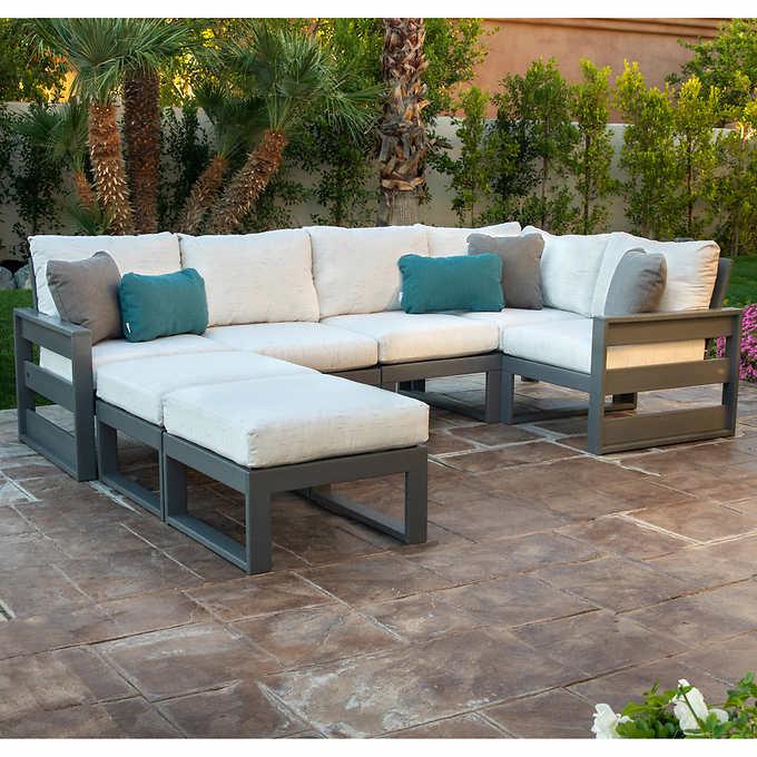 Westport 7 Piece Modular Deep Seating Set Outdoor Furniture Sectional Patio Furniture Outdoor Furniture Covers