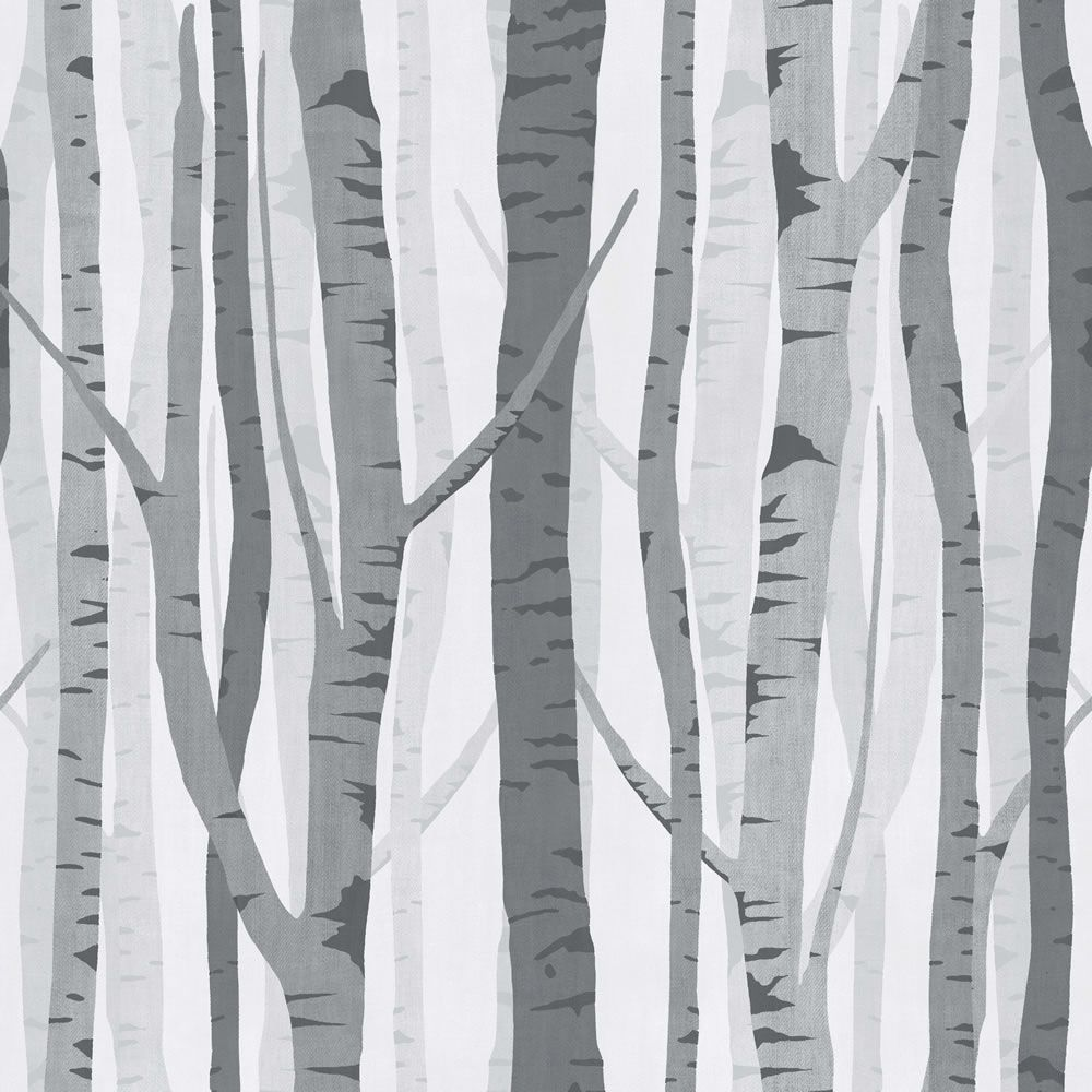 Tree Wall Paper wilko trees wallpaper black/grey wp332118 at wilko | new