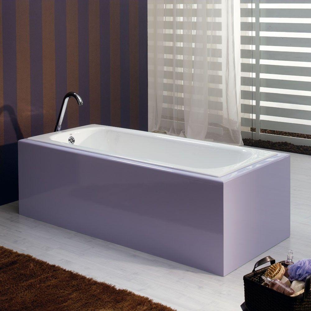 Bella Casa 59 Inch Cast Iron Drop In Tub - No Faucet Drillings | new ...