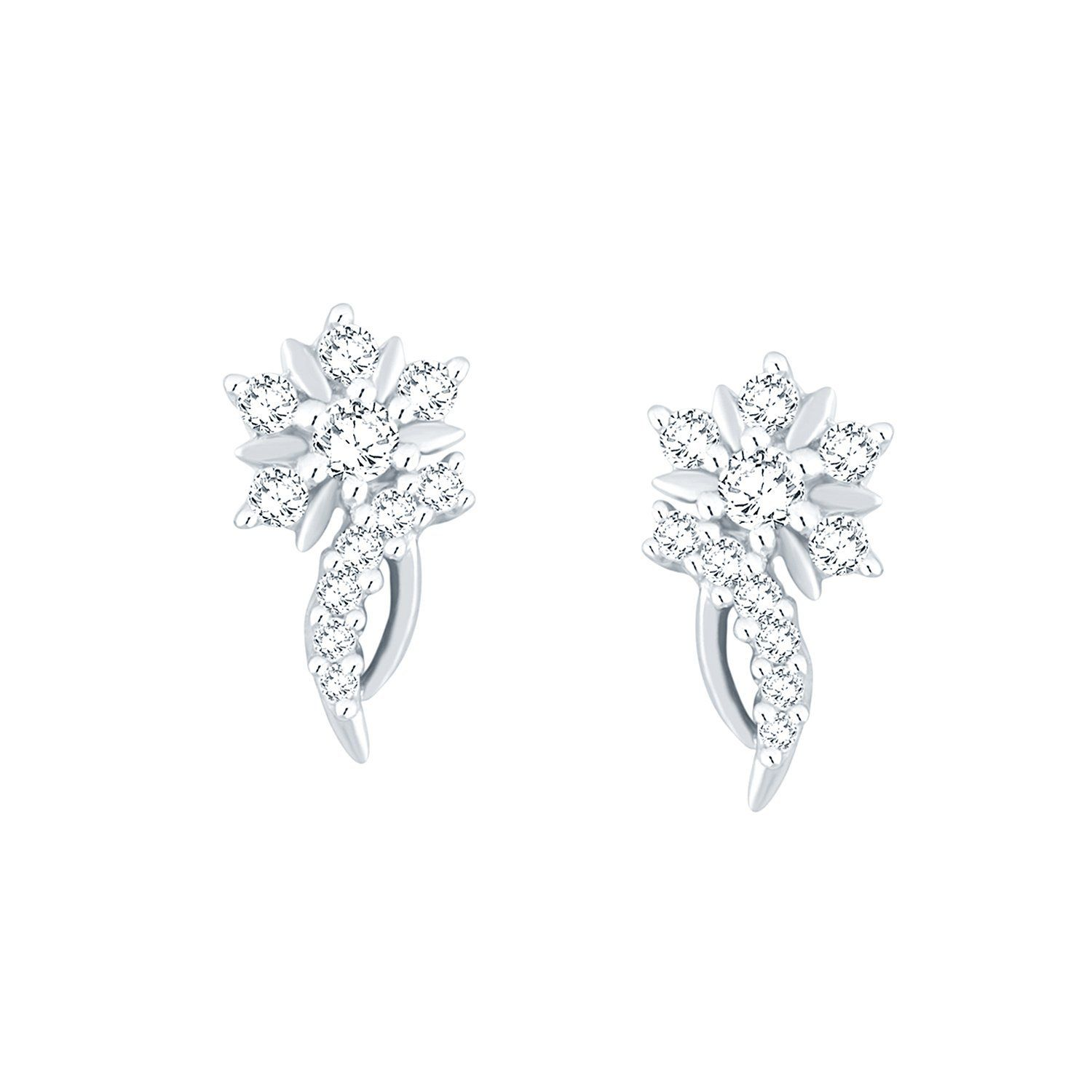 Giantti Silver Diamond Women s Stud Earring IGL Certified 0 415