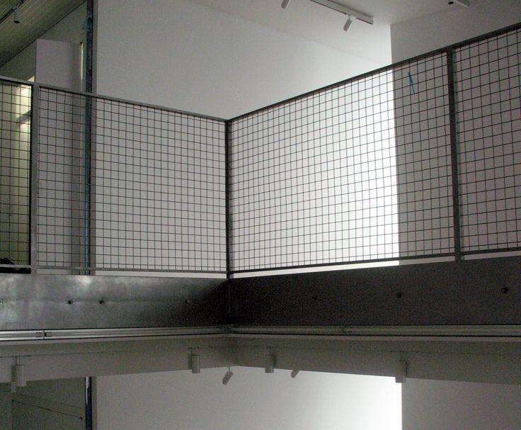 corten metal grate balustrade architecture - Google Search
