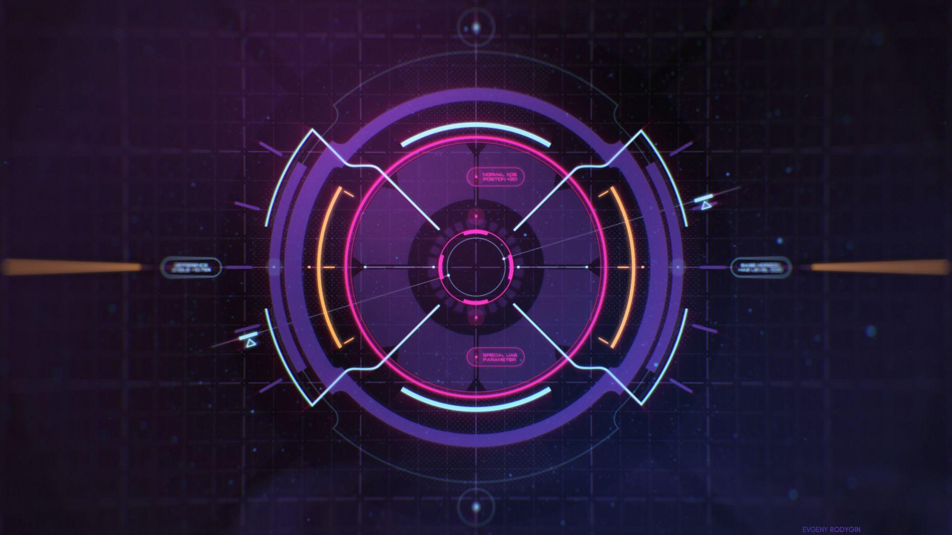 Sci Fi Space HUD on Behance Futuristic UI in 2019