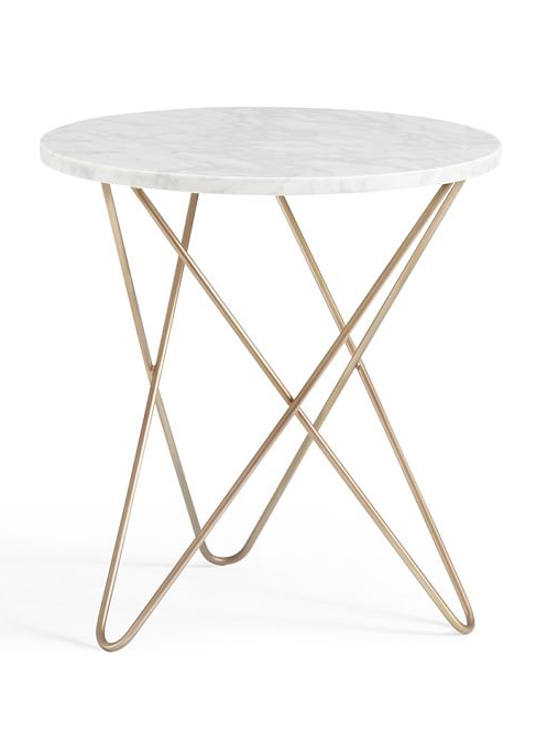 Ordinaire Marble Top Side Table