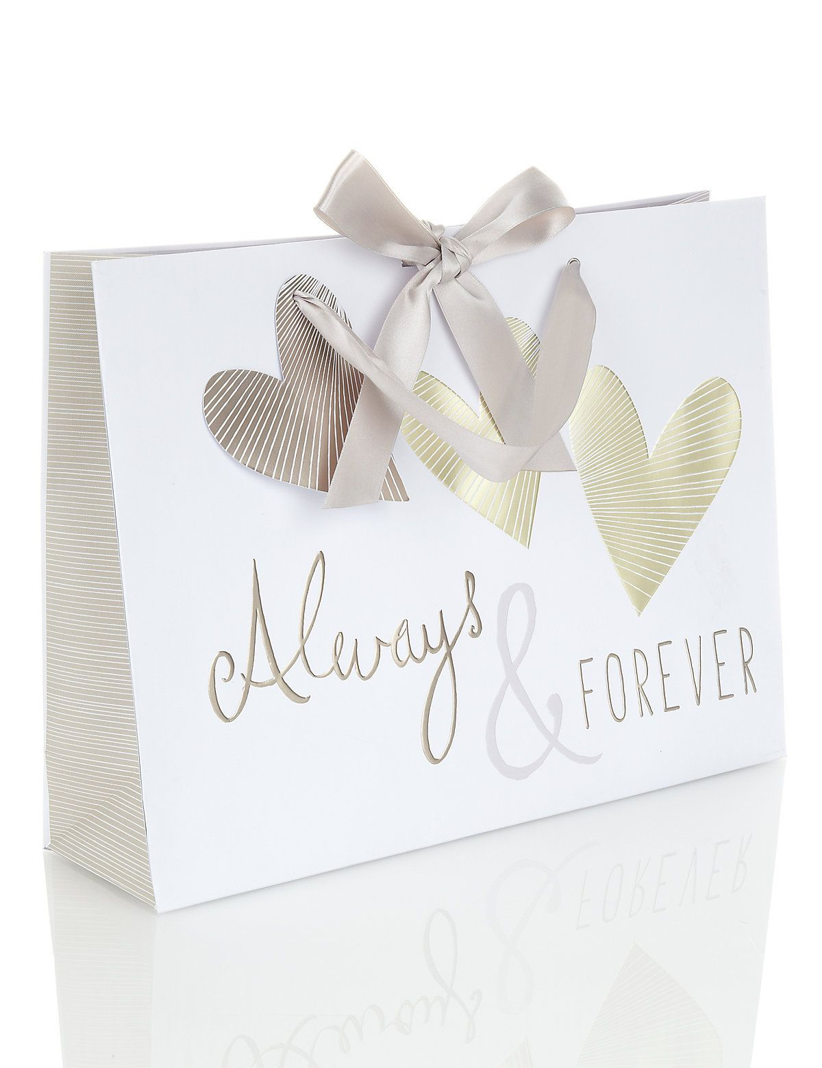 Large gold heart gift bag ms heart gifts paper bag