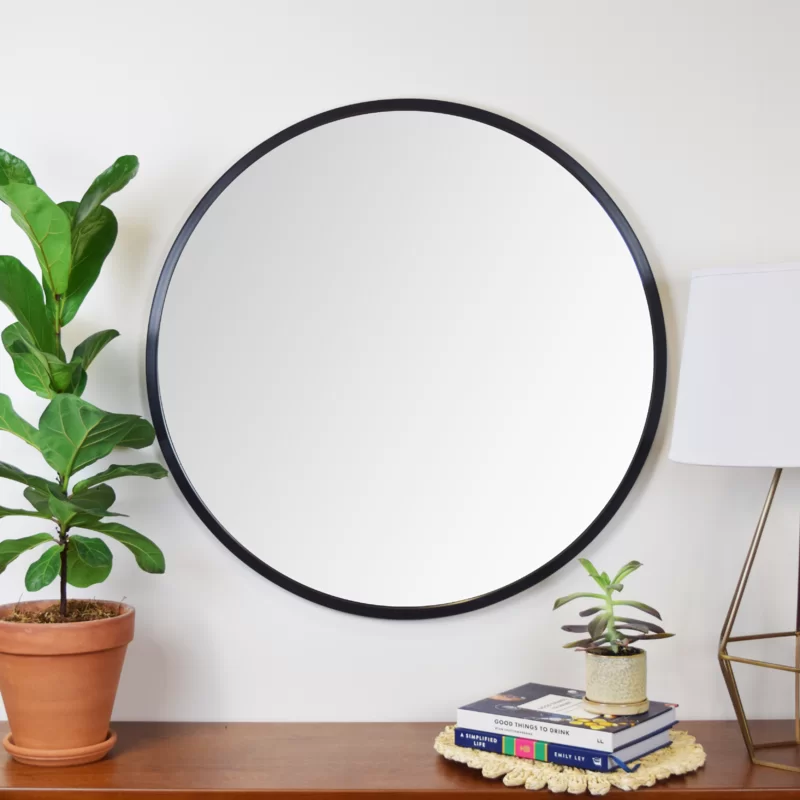 Ebern Designs Clique Modern And Contemporary Accent Mirror Reviews Wayfair Contemporary Accents Accent Mirrors Wood Floating Shelves