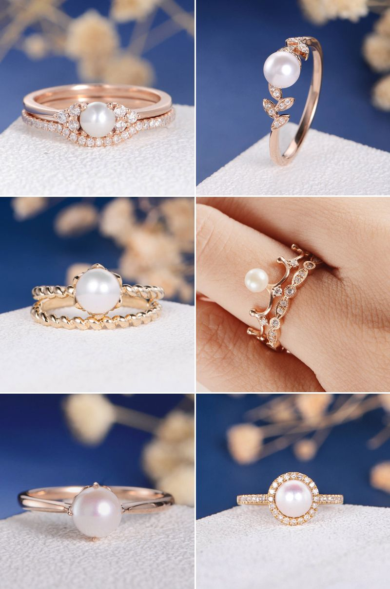 15+ Pearl wedding band ring ideas in 2021