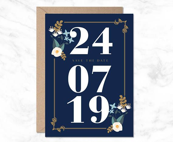 Navy Save Date Template Blue Save Date Save Date Printable Save