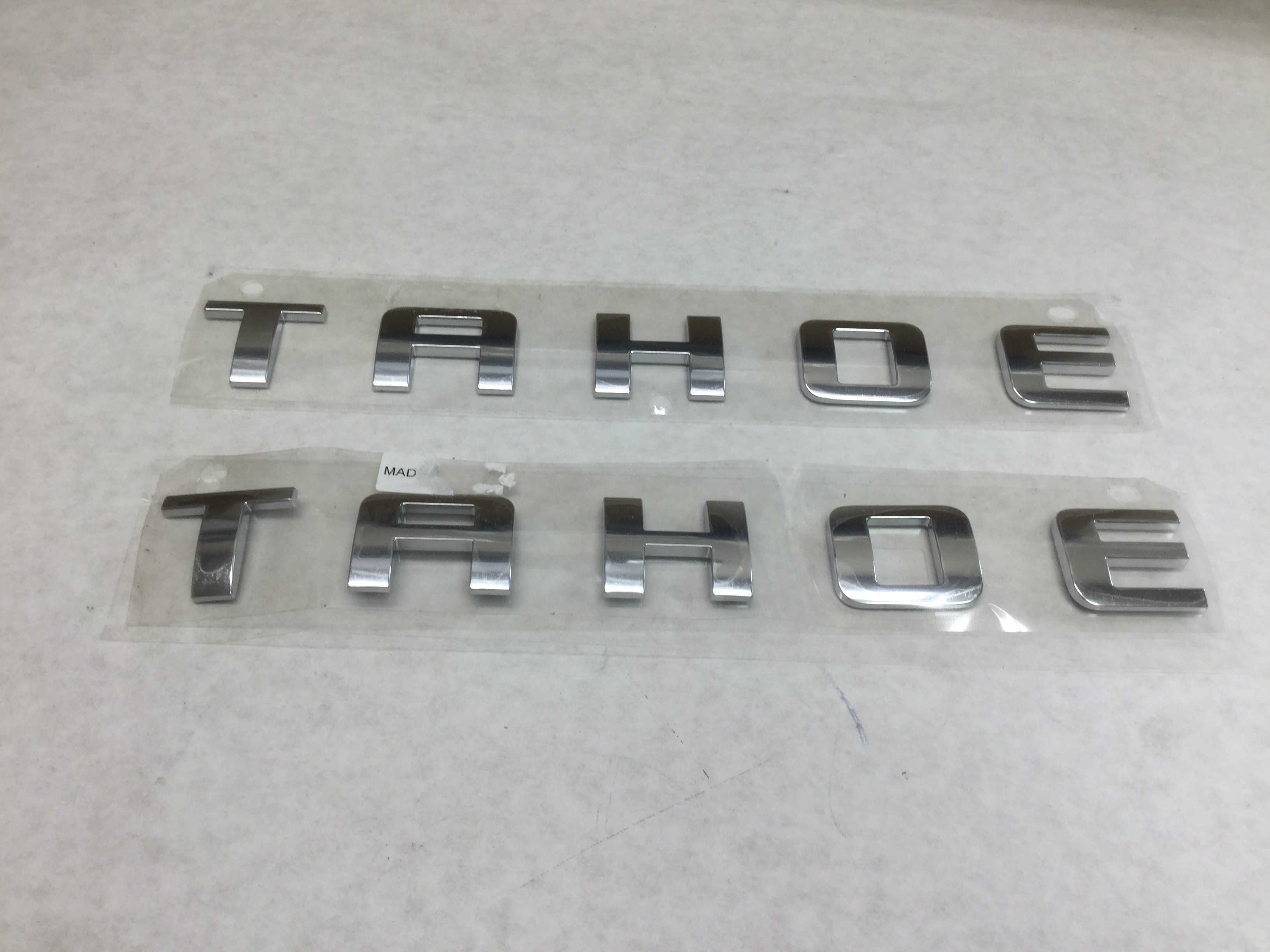 2007 2017 Chevy Tahoe 2 Chrome Door Emblems Nameplates Genuine Oem Parts Auto New Truck Genuine Car Chevy Tahoe Name Plate Tahoe Hybrid