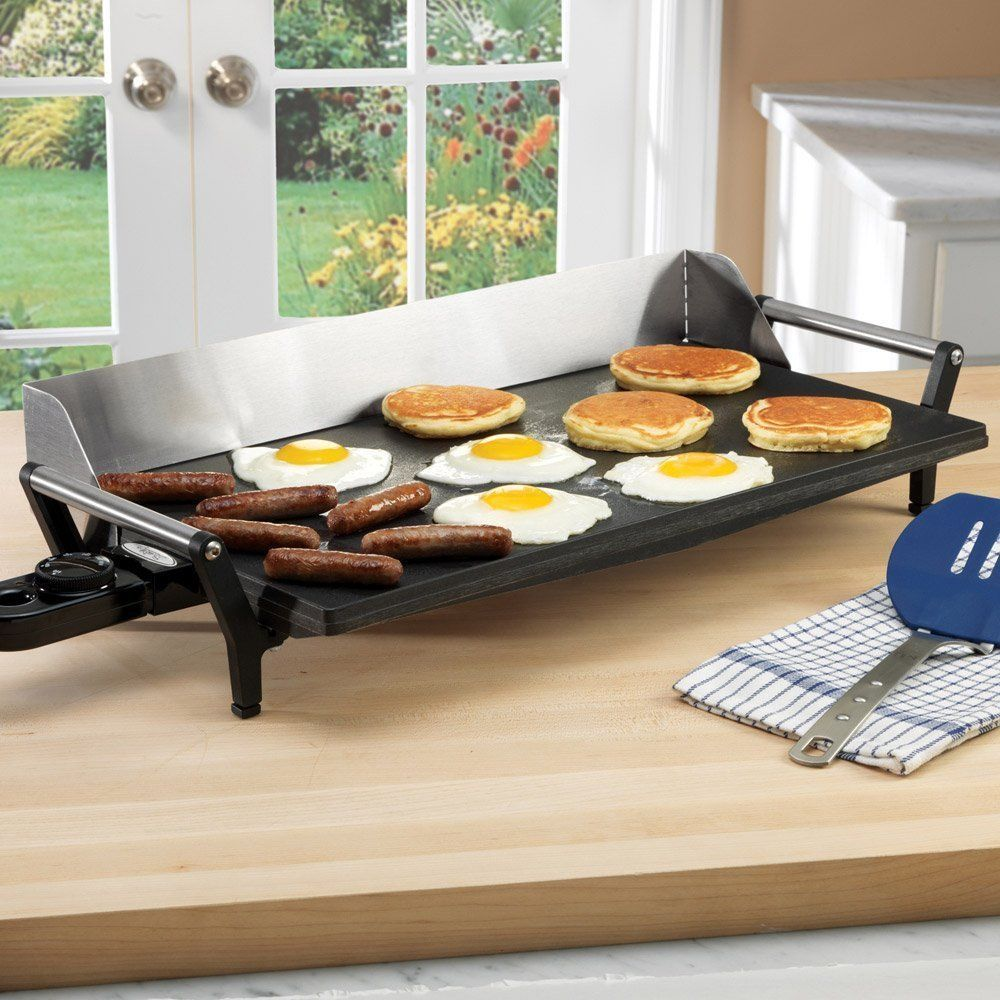 Electric Portable Griddle Grill Kitchen Indoor Cooking
