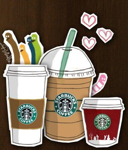 starbucks cartoon Starbucks wallpaper, Starbucks