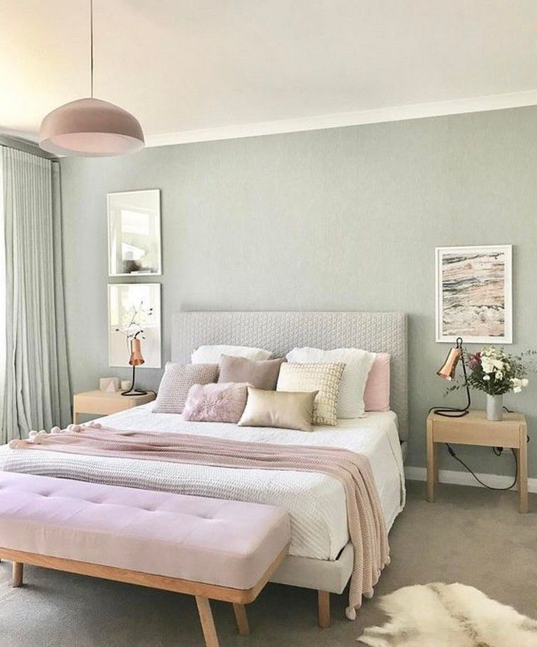 21 Comfy Pastel Bedroom For Graceful And Calm Atmosphere In Your