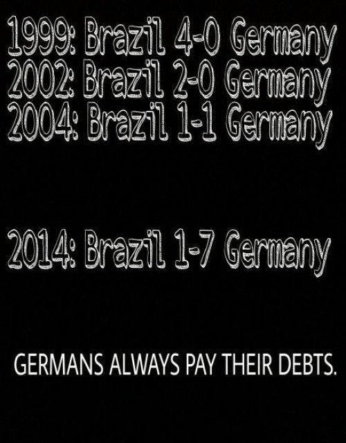 germans always paz their debts