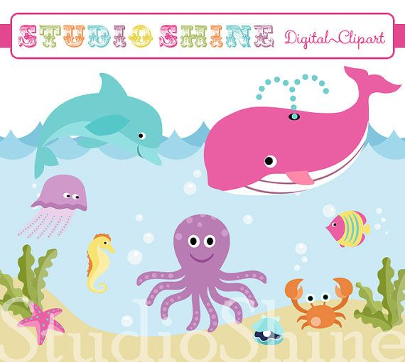 Under The Sea Clipart by soarsense on Etsy, $5.00 | Under the Sea ...