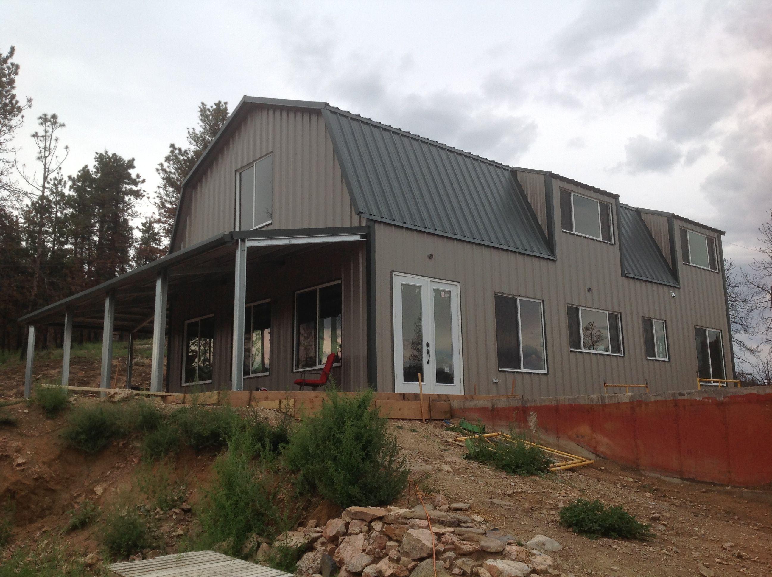 Steel Mountain Home Kit Ameribuiltsteel Com Metal Buildings Pole Barn Homes Metal Building Kits