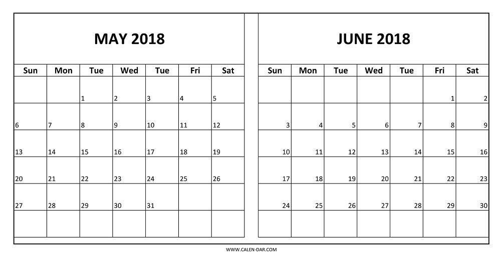 Calendar for May June 2018 Printable   templatedocsnet/budget - printable spreadsheet template
