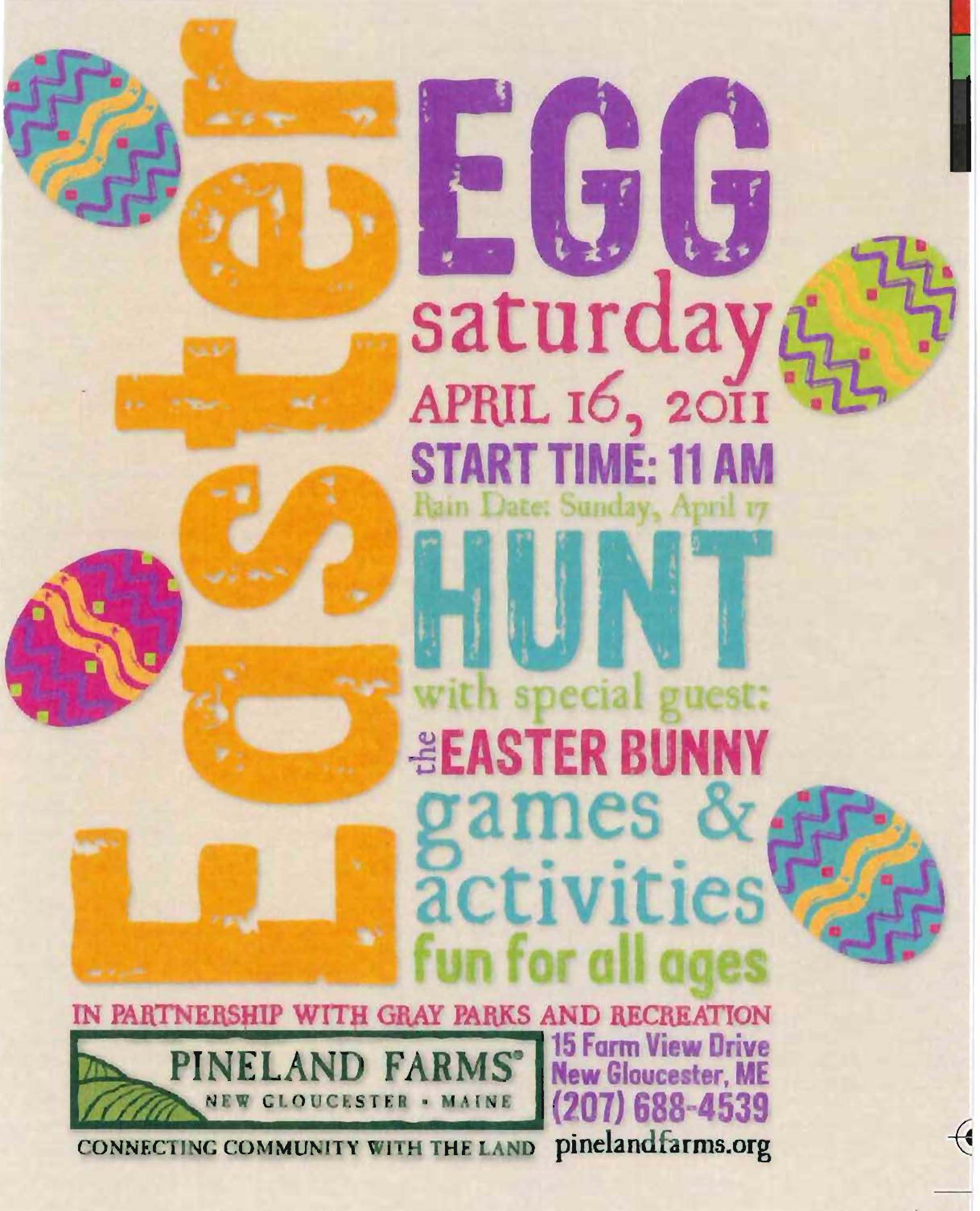Easter Egg Hunt Flyer 2014
