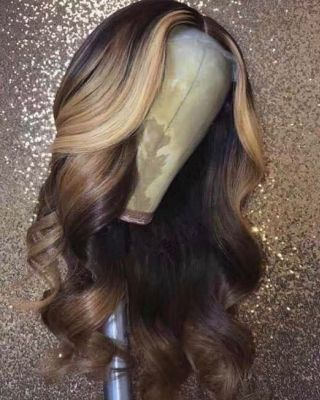 Youmi Human Virgin Hair Pre Plucked Lace Front Wig And Full Lace Wig For Black Woman Free Shipping (YM0056)