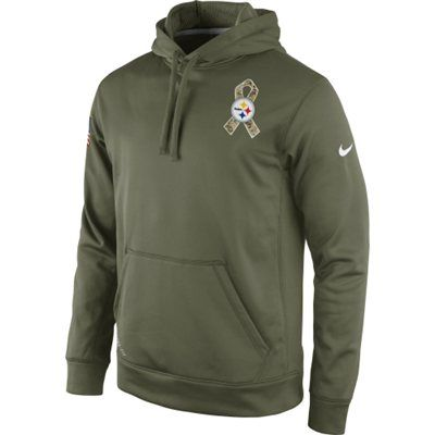 60d9d405a0018 Pittsburgh Steelers Nike Salute To Service KO Hoodie - Olive