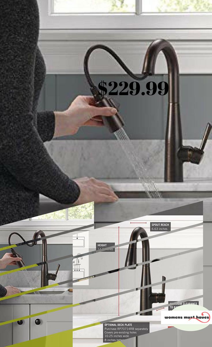 Delta Essa Single Handle Bar Prep Kitchen Faucet With Magnetic