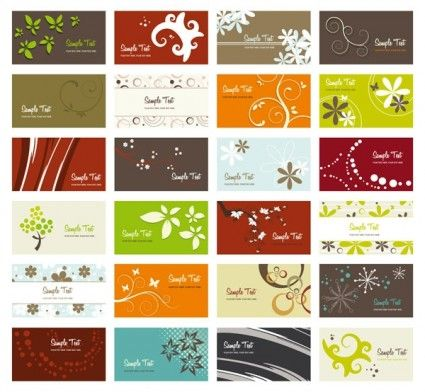 Flower Card Background Vector Vector Business Card Vector