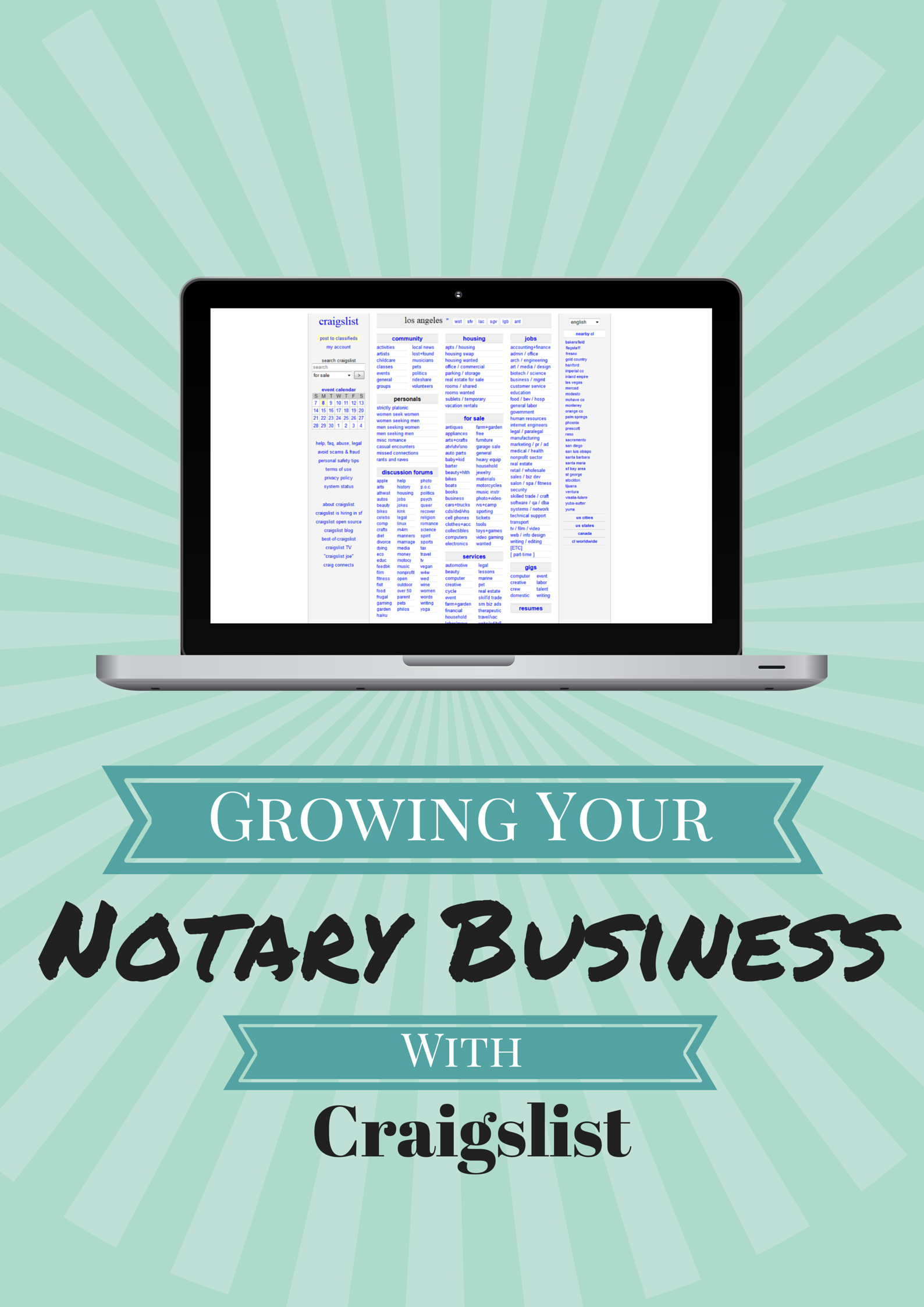 When It Comes To Affordable Advertising Your Local Craigslist Site Has The Potential To Give You Plenty Of Notary Signing Agent Notary Notary Public Business