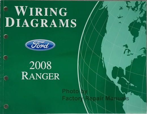 2008 ford ranger truck electrical wiring diagrams original manual