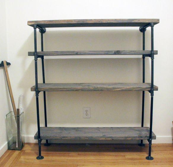 Diy Rustic Shelf Building Bookshelves Diy Industrial Shelf Diy Rustic Shelves